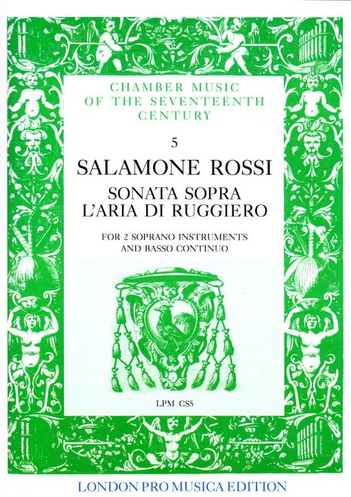 Rossi, Salamone - Sonata sopra l´aria di Ruggiero - 2 Sopranblockflöten und Bc.