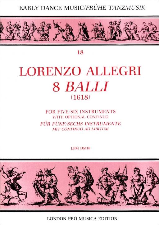 Allegri, Lorenzo - 8 Balli - SSATTB / SSATB