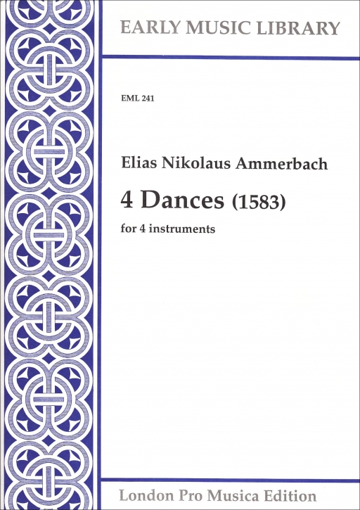 Ammerbach, Elias Nikolaus - four dances - SATB