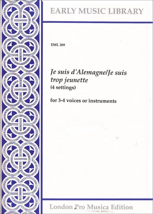 Anonymus - Je suis d'Alemagne / Je suis trop jeunette - STTB / SAB