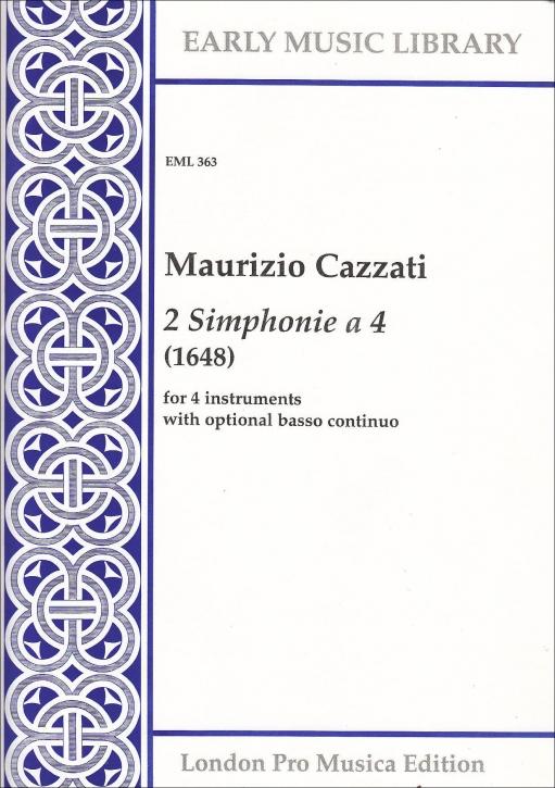 Cazzati, Maurizio - Two Simphonie a 4 - SSAB