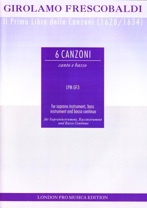 Frescobaldi, Girolamo - Sechs Canzonen - Sopranblockflöte, Bassinstrument und Bc.