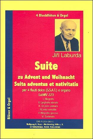Laburda, Jirí - Suite zu Advent und Weihnacht - Recorder Quartet SSAT und Orgel