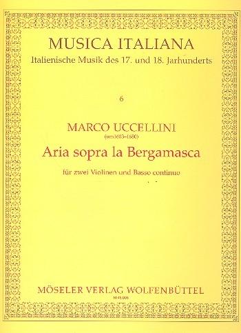 Uccellini, Marco - Aria sopra la Bergamasca - (in D) 2 Sopranblockflöten und Bc.