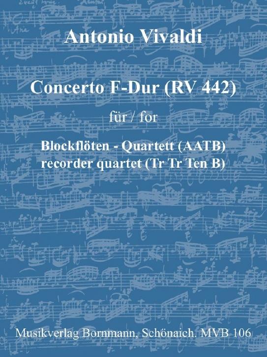 Vivaldi, Antonio - Concerto F-Dur (RV 442)  - AATB