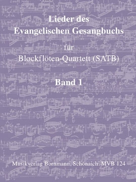 Songs of the Protestant Hymn Book Vol. 1- recorder quartet - SATB