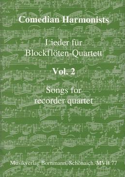 Comedian Harmonists - Lieder für Blockflöten-Quartett Vol.2 - AATB