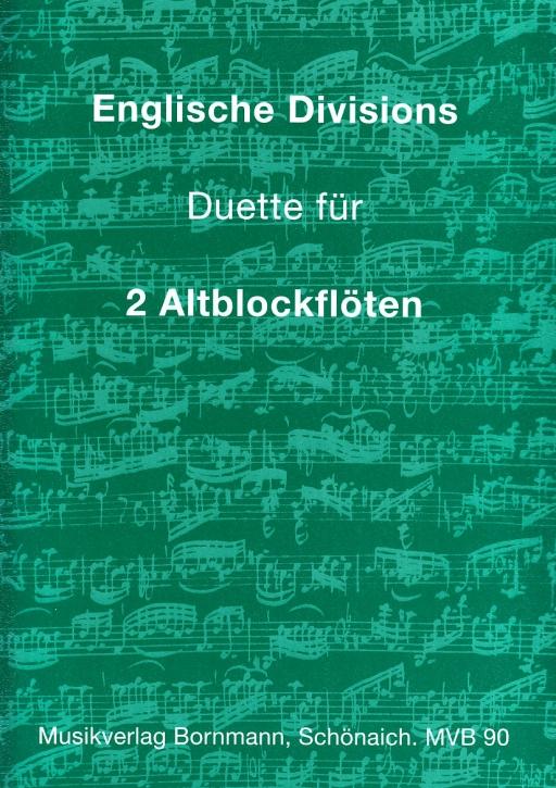 Englische Divisions - Duette - 2 Altblockflöten