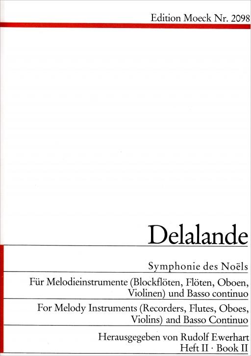 Delalande, Michel-Richard - Symphonie des Noël 2 - Soprano Recorder & Bc