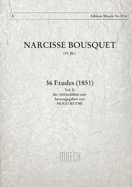 Bousquet, Narcisse - 36 Etüden für Altblockflöte -  Band 2