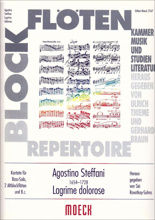 Steffani, Agostino - Lagrime dolorose - Bass, 2 Altblockflöten und Bc.