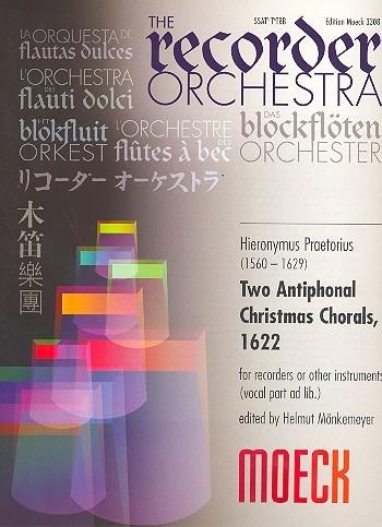 Praetorius, Hieronymus - 2 double choirs christmas motets  Weihnachtsgesänge - SSAT(A) + T(A)TBB