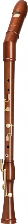 bass recorder Mollenhauer 2546KD Canta bend neck, pearwood stained
