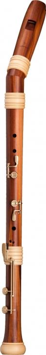 bass recorder Mollenhauer 4527K Adri's Traumflöte, bend neck, plumwood