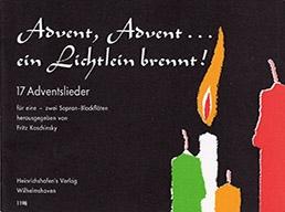 Advent, Advent...ein Lichtlein brennt! - 2 Sopranblockflöten