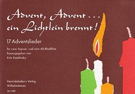 Advent, Advent...ein Lichtlein brennt! - Recorder Trio SSA