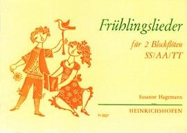 Frühlingslieder für zwei Blockflöten - SS / AA / TT