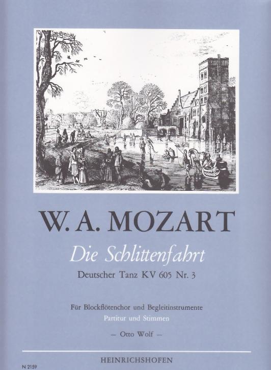 Mozart, Leopold - Die Schlittenfahrt -  Recorder Quartet SATB