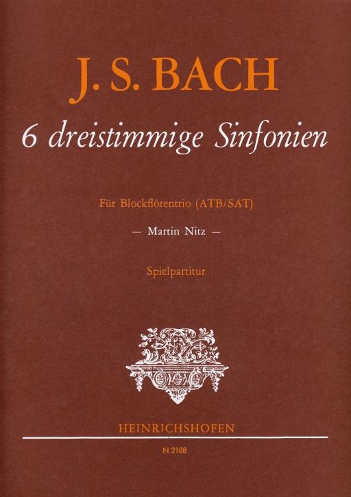 Bach, Johann Sebastian - 6 three part sinfonies - ATB / SAT