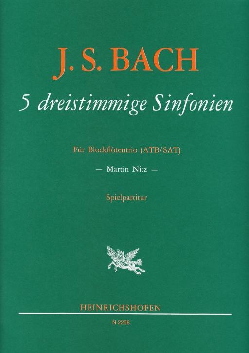 Bach, Johann Sebastian - 5 three part sinfonies - ATB / SAT
