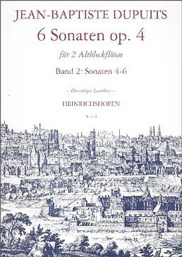 Dupuits, Jean Baptiste - 6 Sonaten op. 4 -  Heft 2 2 Altblockflöten