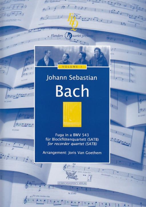 Bach, Johann Sebastian (Arr. Joris van Goethem) - Fuga in a -  BWV 543 SATB
