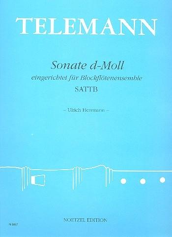 Telemann, Georg Philipp - Sonate d-moll - SATTB