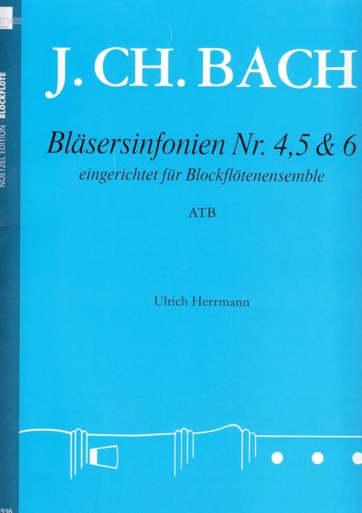 Bach, Johann Christian - Bläsersinfonien Nr. 4,5 & 6 - ATB