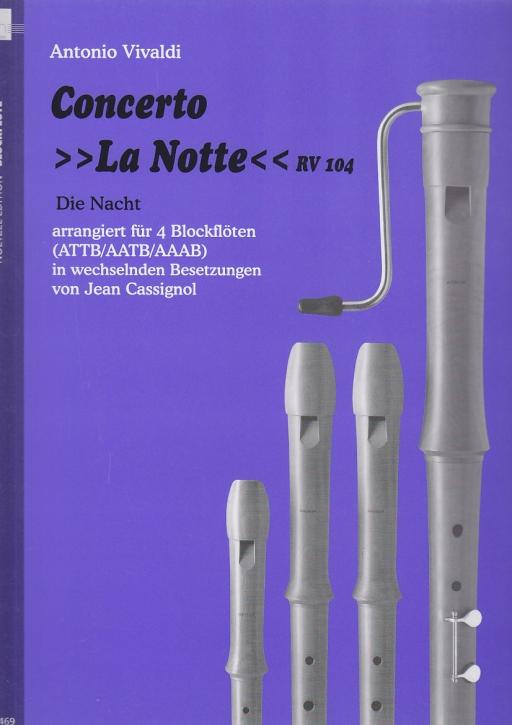 Vivaldi, Antonio - Concerto La Notte -  ATTB / AATB / AAAB