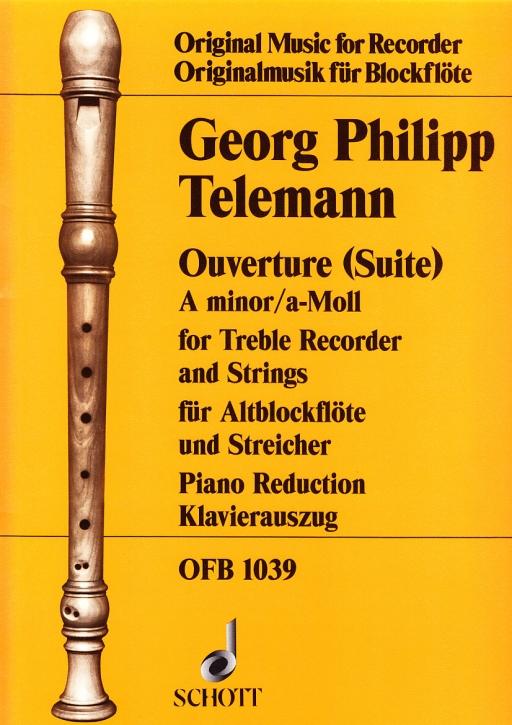 Telemann, Georg Philipp - Suite a-moll - Altblockflöte und Klavier