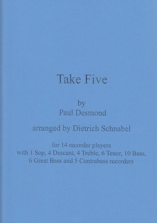 Desmond, Paul - Take Five - Blockflötenorchester