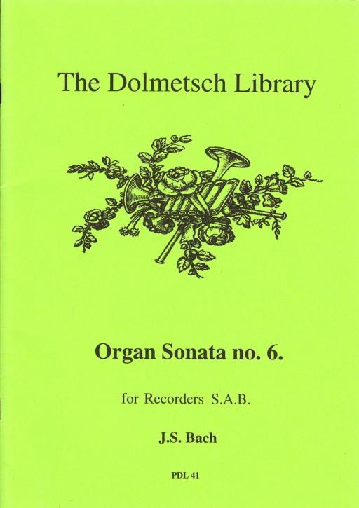 Bach, Johann Sebastian - Orgelsonate Nr. 6 - SAB