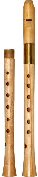 Altblockflöte (f)<br> Yoav Ran<br> Modell Ganassi<br> 442/415 Hz, Ahorn