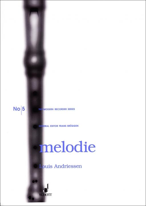 Andriessen, Louis - Melodie  - Altblockflöte und Klavier