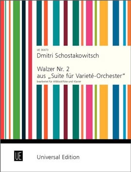 """Schostakowitsch, Dmitri - Second Waltz from """"Suite for Variety Orchestra"""" for treble recorder and piano"""