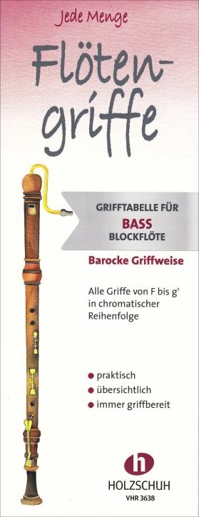 Blockflötenspicker - Griff- und Trillertabelle für alle Blockflöten