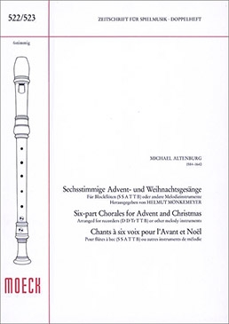 Altenburg, Michael - Sixparts Christmas Songs- SSATTB