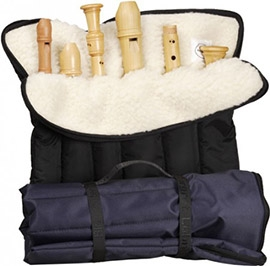 Roll Bag With Six Slots, black