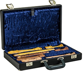 case For Soprano, Treble and Tenor Recorder, black