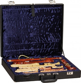 Case For Sopranino, Sopran, Treble, Tenor and Bass Recorder