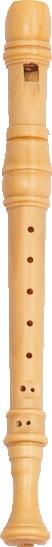 Miniaturblockflöte, Brosche aus Buchsbaum