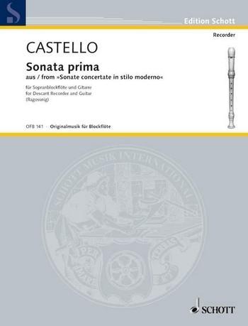 Castello, Dario - Sonata Prima - Sopranblockflöte und Gitarre