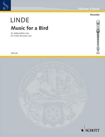 Linde, Hans-Martin - Music for a bird - Altblockflöte solo