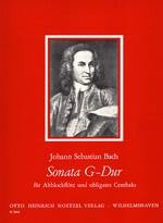 Bach, Johann Sebastian - Sonate G-dur (nach BWV 1032) - Altblockflöte  und obligates Cembalo