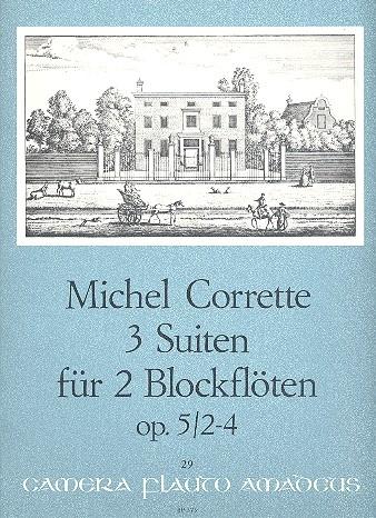 Corrette, Michel - 3 Suiten - Zwei Altblockflöten