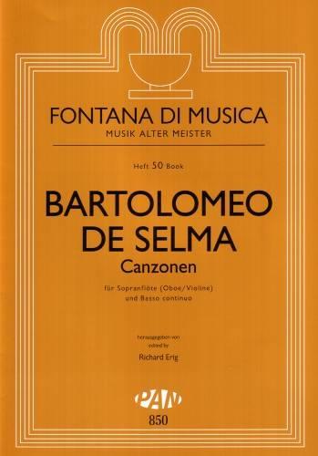 Selma y Salaverde, Bartolomeo de - Canzonen - Sopranblockflöte und Basso continuo