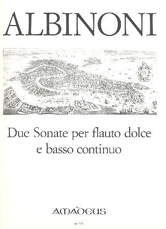 Albinoni, Tomaso - 2 Sonaten - Altblockflöte und Basso continuo