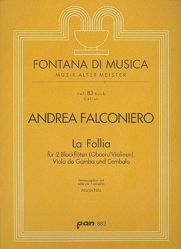 Falconiero, Andrea - La Follia  - 2 Altblockflöten und Bc.