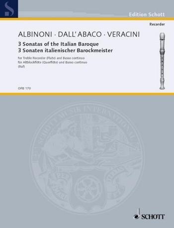 3 italienische Barocksonaten - Altblockflöte und Basso continuo