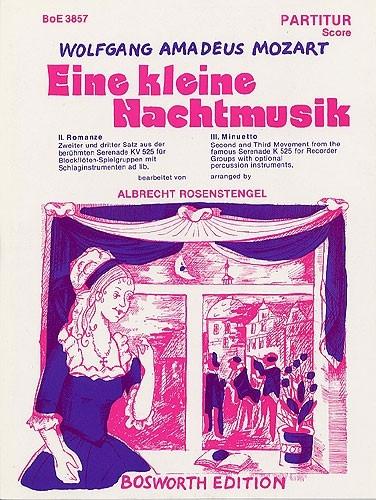 Mozart, Wolfgang Amadeus - Eine kleine Nachtmusik 2. und 3. Satz - SATB und Percussion ad lib.